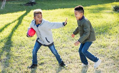 foto spelende kinderen